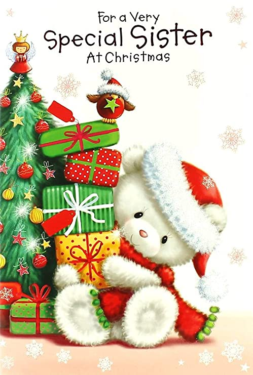 Cards Galore Online Tarjeta de Navidad para Hermana, diseño ...