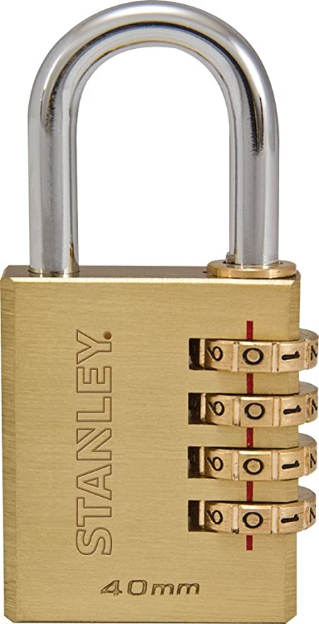 Schloss S742-060 STANLEY TravelMax TSA Zahlenschloss 20mm schwarz 3-stellig Vinyl-Kabel