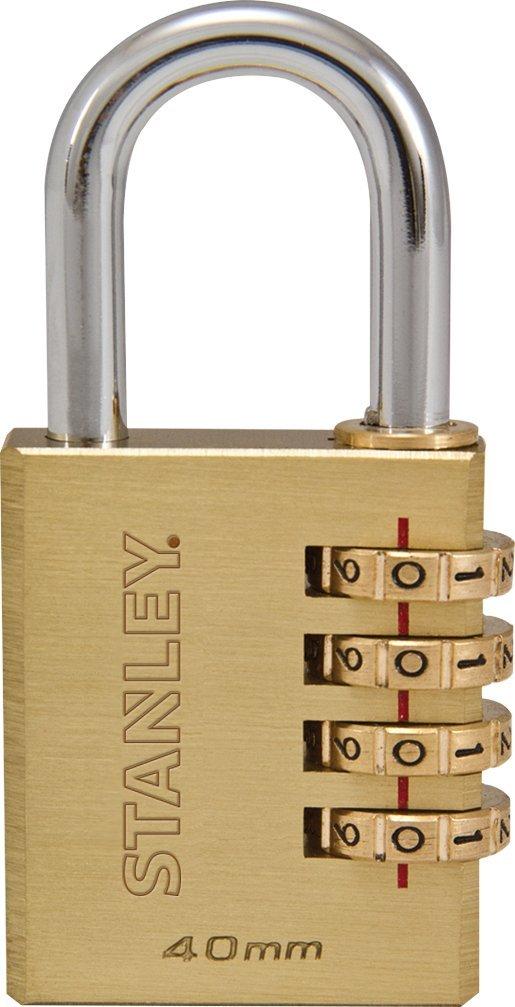 STANLEY Brass Zahlenschloss 30mm 3-stellig S742-051, Schloss, Bü gelschloss BLAMT 81131 371 401