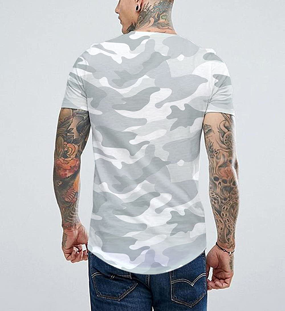 f602f33365d33c Amazon.com  Luobote Men T Shirt Graphic Trippy Fashion Camouflage Gym Crew  Neck Hip Hop Clothing  Clothing