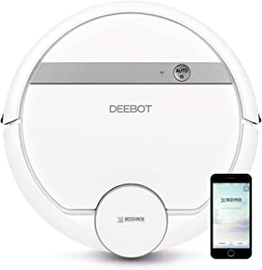 Ecovacs Deebot 907 Smart Robotic Vacuum, Carpet, Bare Floors, Pet Hair + Mapping Technology, High Suction Power, WiFi, with Alexa, Google Assistant (Renewed)