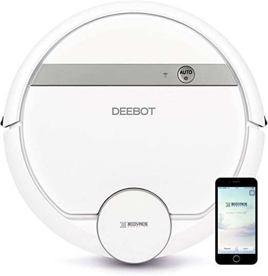WiFi Ecovacs Deebot 907 Smart Robotic Vacuum Bare Floors Pet Hair Mapping Technology Renewed Google Assistant Carpet with Alexa High Suction Power