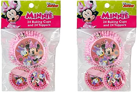 2-pack Disney Minnie Mouse y Daisy Duck 24 moldes para cupcakes y ...