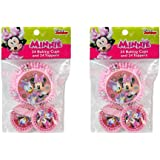 2-Pack Disney Minnie Mouse & Daisy Duck 24 Cupcake Liners & 24 Toppers (48 Total)