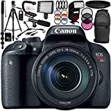 Canon EOS Rebel T7i DSLR Camera with 18-135mm IS STM Lens 17PC Accessory Bundle – Includes 32GB SD Memory Card + Universal Wireless Shutter Release Remote + MORE - International Version (No Warranty)