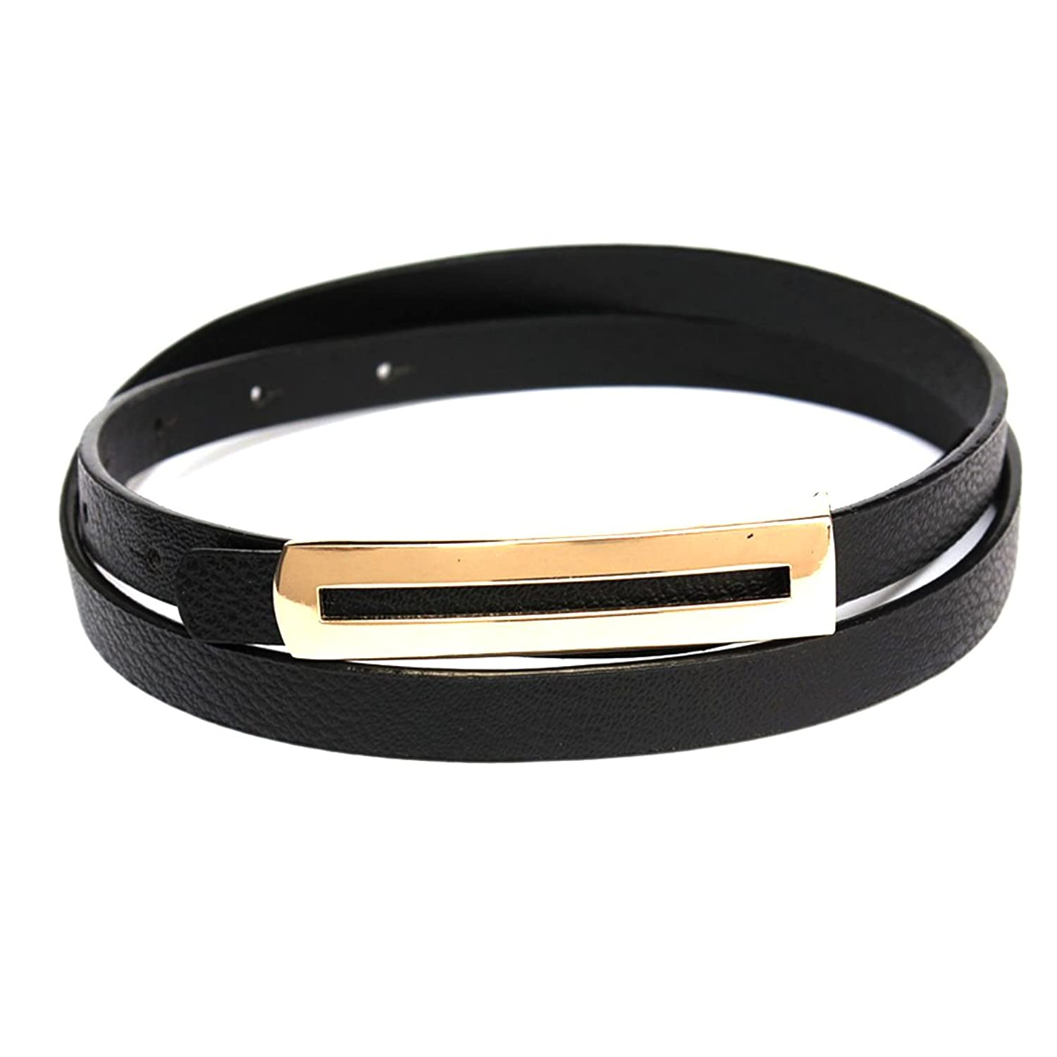 Girl Skinny Waist Belt Leather Narrow Thin Glossy Waistband