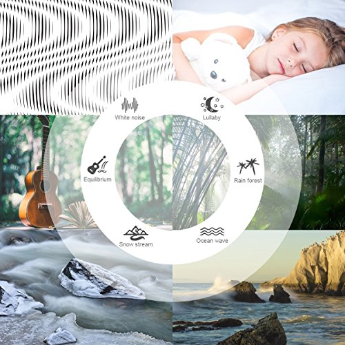 White Noise Upgraded Sleep Machine, Sound Therapy 3 Timers & Natural Sound Options Including Lullaby, for Sufferer, jarvania