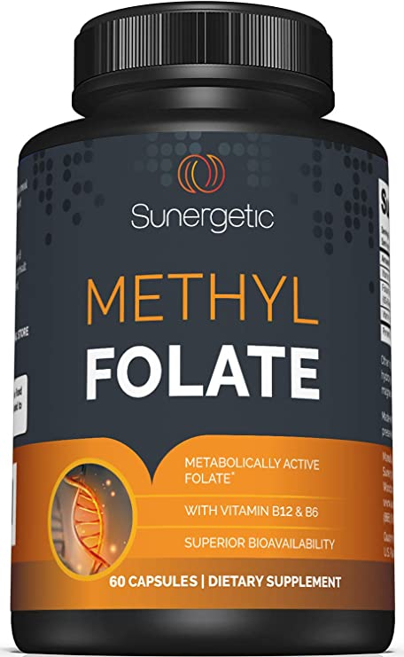 Premium Methyl Folate Supplement – Methyl Folate Capsules with Methylated Vitamin B12 and Vitamin B6 – Metabolically Active Folate as Magnafolate® - Methylfolate 400 mcg per Capsule – 60 Capsules