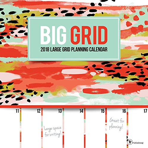 2018 Big Grid Planning Wall Calendar