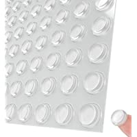 """Pack of 100 Cabinet Door Bumpers,1/2"""" Diameter Clear Adhesive Pads for Noise Reduction,Sound Insulation and Damping…"""