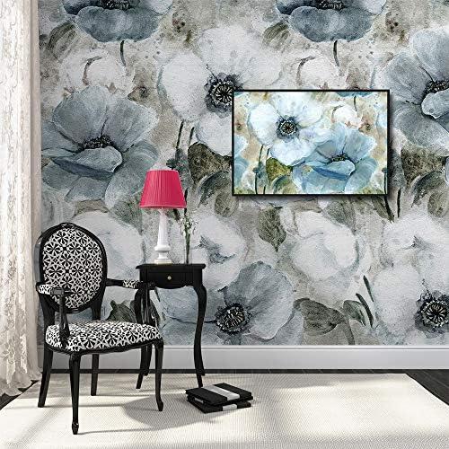 Framed for Living Room Bedroom Vintage Style Beautiful Flower Theme for