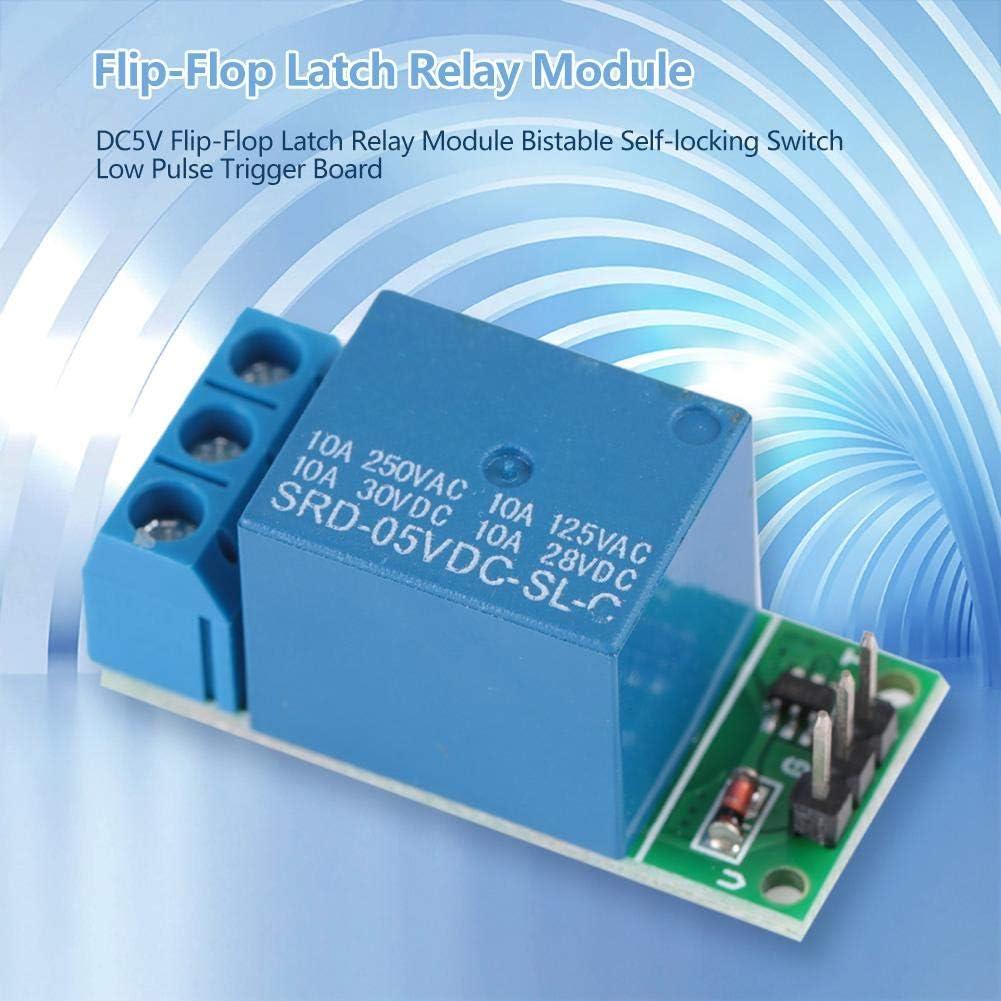 New 5V Flip-Flop Latch Relay Module Bistable Self-lockingSwitch  Trigger BoardWT