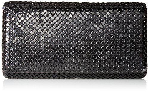 Jessica McClintock Womens Metal Mesh Roll Evening Bag Clutch Purse (Shoulder Chain Included 4.5'' x 7.5'' x 2'') by Jessica McClintock