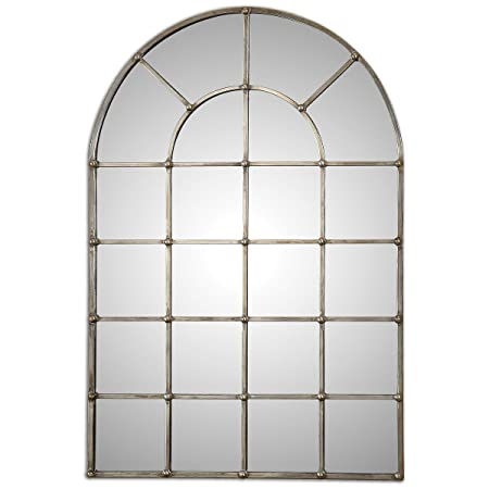 Uttermost 12875 Barwell Arch Window Mirror, Silver