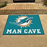 Miami Dolphins Man Cave All-Star Rug 34x45 - FAN-14324 by Fanmats