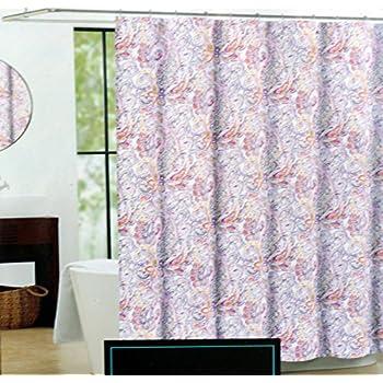 This Item Cynthia Rowley Fabric Shower Curtain    Purple Yellow Gray Eaton  Paisley Idea Cynthia Rowley Curtains