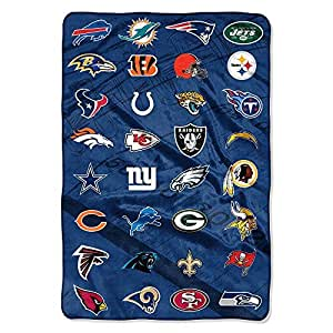 Northwest 1NFL676000001TGT NFL 676 All League Down Field Micro All Team NFL Football Oversized Super Plush Fleece Blanket (62in X 90in),,