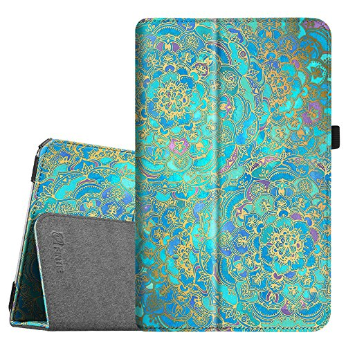 Fintie Samsung Galaxy Tab E 9.6 Case - Slim Fit Premium Vegan Leather Folio Stand Cover for Tab E / Tab E Nook 9.6-Inch Tablet (SM-T560 / T561 / T565 & SM-T567V Verizon 4G LTE Version), Shades of Blue