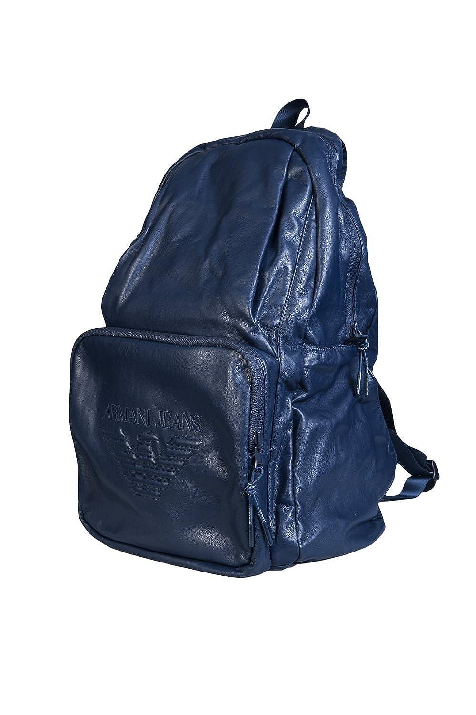 Armani Jeans Navy Blue PU Backpack 932063 7A937 One Size  Amazon.co.uk   Clothing e14fa6dde6fd5