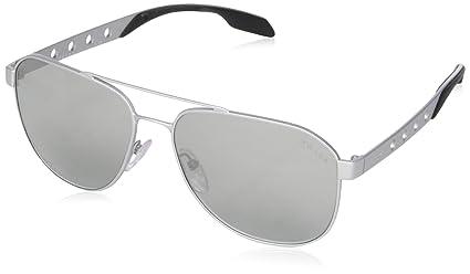 Prada Herren Sonnenbrille Machine PR51RS, Schwarz (Matte Black 1BO0A7), One size (Herstellergröße: 60)