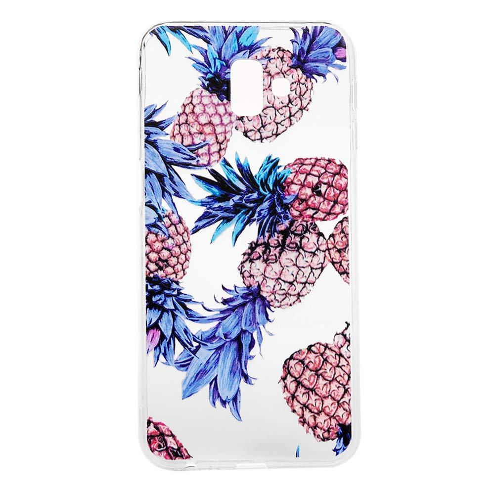 GODTOOK Coque pour Samsung Galaxy J6 Plus 2018 J6 Prime 3 pi/èces Silicone TPU Souple Couvercle Ultra L/éger Ultra Souple Flexible de Protection de T/él/éphone Case Ananas Girafe