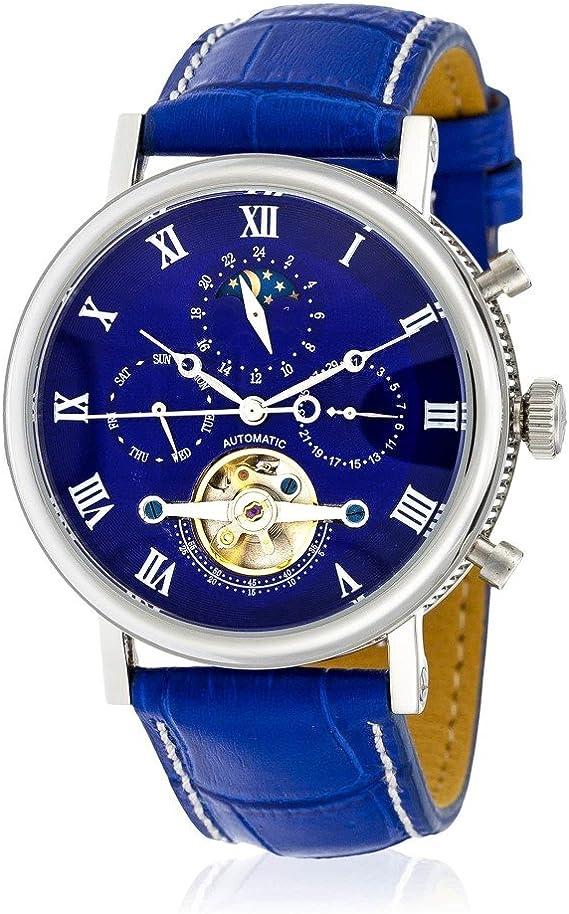 Cuir Louis Tradition Cadran Automatique Cottier Mm Hs3370c4bc3 Montre Bracelet 42 Bleu Homme K15c3uTlFJ