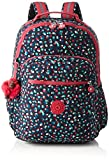 Kipling Seoul Up Large Backpack With Laptop Protection Pink Summer Pop