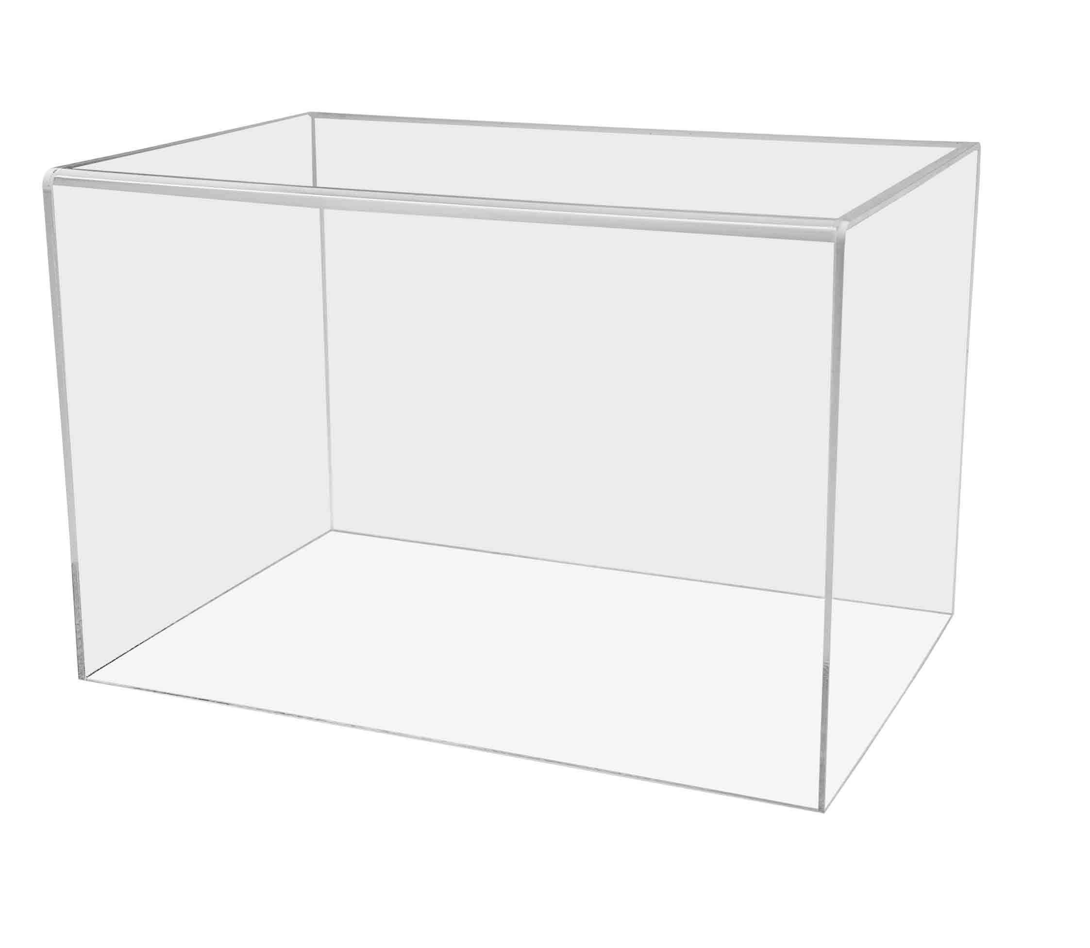 Marketing Holders 5 Sided Cube Display Pedestal Stand 8'' x 12'' x 8'' Acrylic Box Clear Showcase Trophy Figurine Art Statue