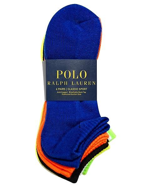 Polo Ralph Lauren Hombre tobillo Calcetines de 6-pair 10 - 13: Amazon.es: Ropa y accesorios