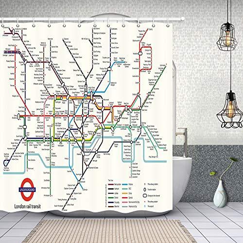 NYMB Map Decor, City Subway of London Rail Transit...