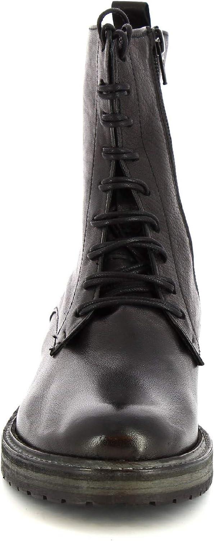 Leonardo Shoes Stiefelette mit Schnürsenkel, für Damen, aus Kalbsleder, Schwarz - Modellcode: 612 ROK Nero Schwarz