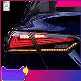 USEKA トヨタ カムリ 70系 テールランプ テールライト リアライト 全LED 流れる ウインカー スモーク 左右4点セット 日本語説明書つき新品 2018-UP年 LED FOR Toyota Camry taillight