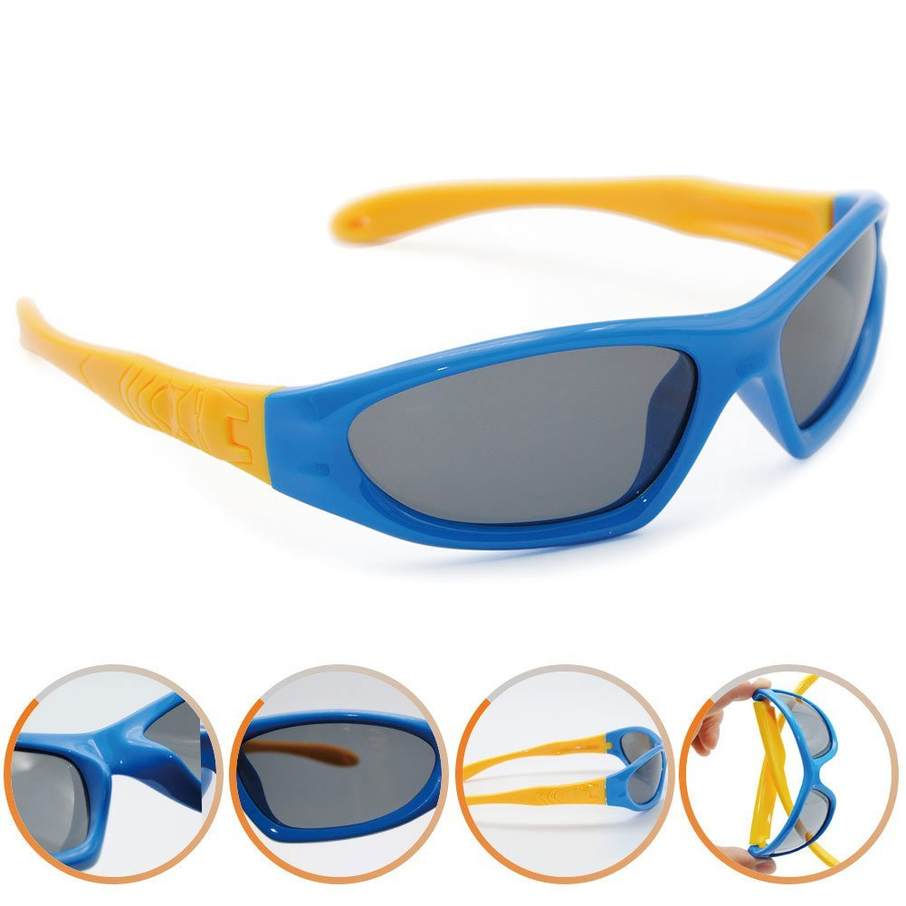 Northgoose Kids Boys Girls Polarized Sunglasses UV Protection ngk0002-black