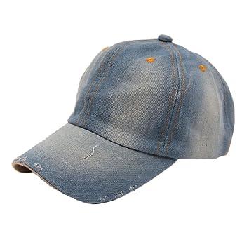 Malloom Moda Hombres Mujeres Jeans Denim Deportes casual sombrero de vaquera gorra de béisbol del sombrero de Sun (A): Amazon.es: Hogar