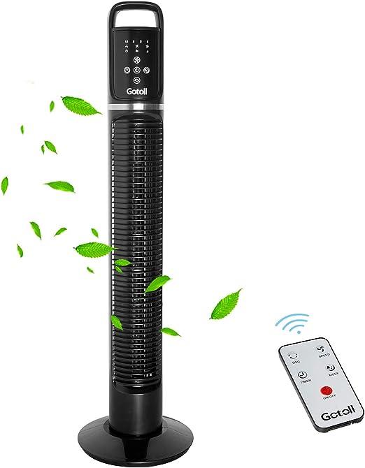 Gotoll Ventilador de Torre Negro 81CM,40W con Mando a Distancia ...