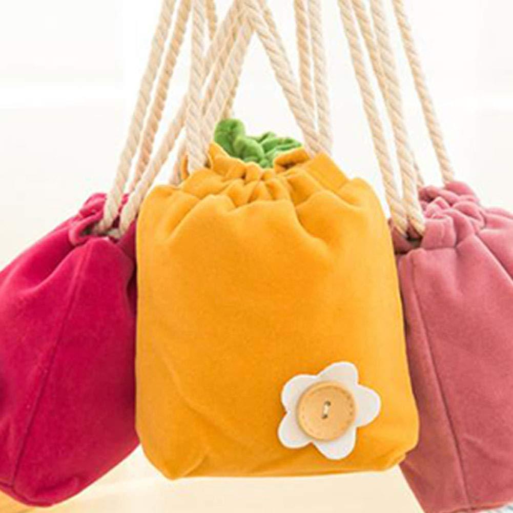 15.5cm*13cm Tmacok Sacs /à cordon en tissu non tiss/é avec cordon de serrage rose sacs cadeau et pochette /à bijoux avec cordon de serrage