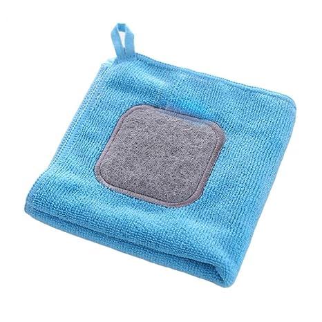 Toalla de microfibra absorbente para colgar en el hogar, cocina, lavado de ropa –