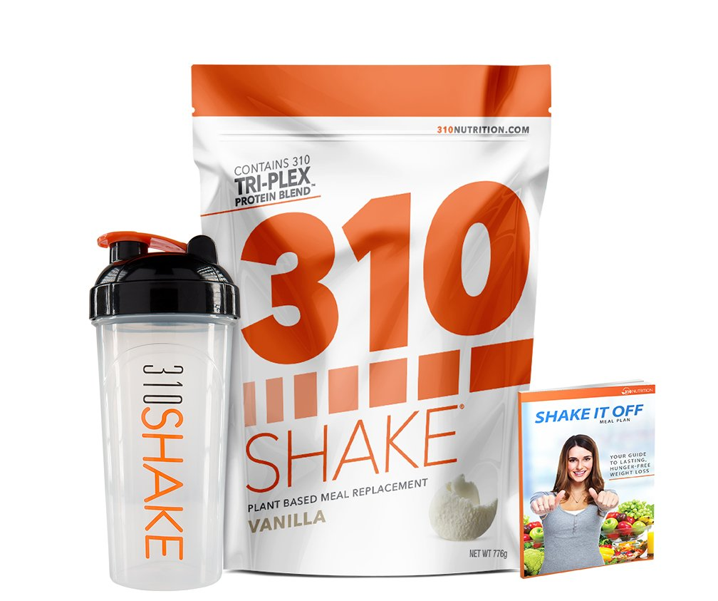 Vanilla Meal Replacement | 310 Shake Protein Powder is Gluten and Dairy free, Soy Protein and Sugar Free | Includes 310 Shaker and Free Recipe eBook | 28 Servings