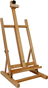 "US Art Supply Large 33"" to 47"" Tall Tabletop Adjustable H-Frame Wood Studio Artist Easel"