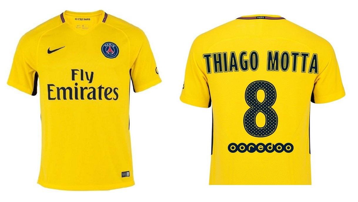 Trikot Kinder Paris Saint-Germain 2017-2018 Away - Thiago Motta 8