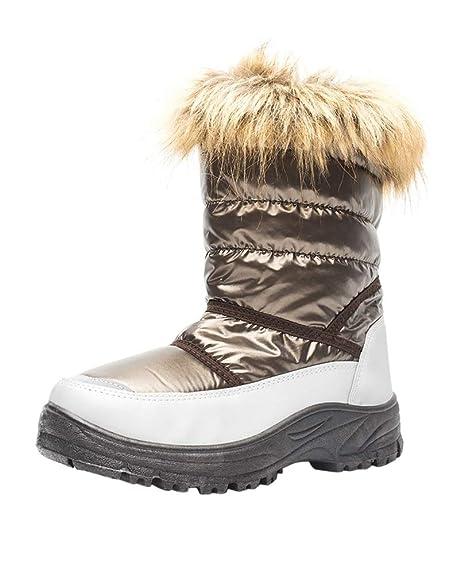 e4be8cdf8 Botas de Nieve para Unisex-niños Zapatos Invierno Forrados de Piel Botas  Niñas Impermeables Calientes y Antideslizante  Amazon.es  Zapatos y  complementos