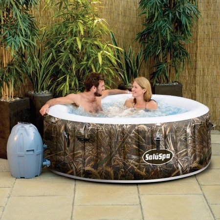 (Realtree SaluSpa MAX-5 AirJet 4 Person Portable Inflatable Hot Tub Spa)