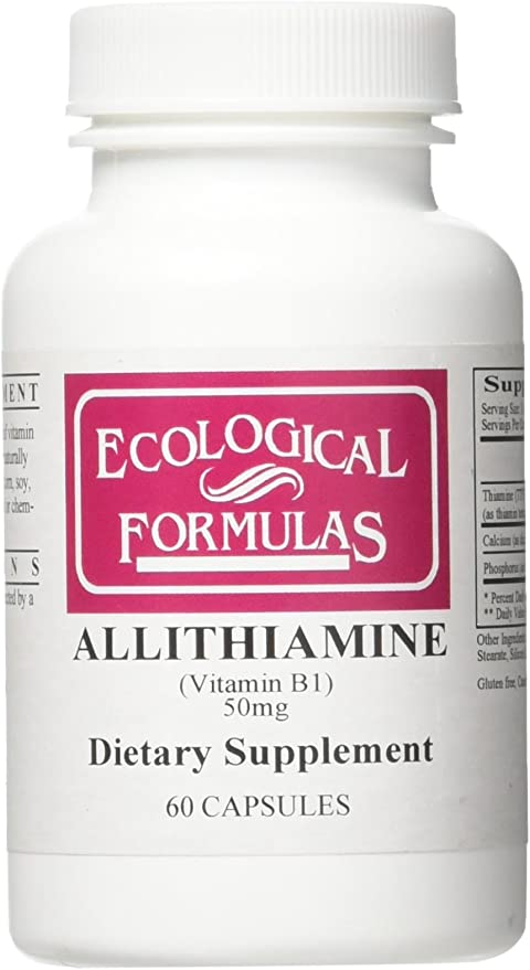 Ecological Formulas Allithiamine Vitamin B1 50 Mg, White, 60 Count