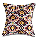 Style Homez Cotton Canvas Geometric Printed Cushion XL Size Set of 2 Cover Only