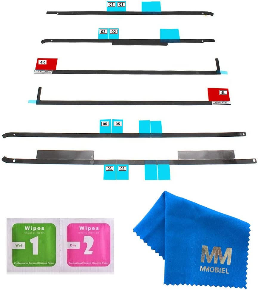 """MMOBIEL Replacement LCD Display Adhesive Tape Repair kit Strips Compatible with iMac 21.5"""" A1418 iMac13.1 Late 2012. iMac14.3 Late 2013. iMac14.4 Mid 2014.iMac16.1 2015.iMac16.2 Retina 4K Late 2015"""