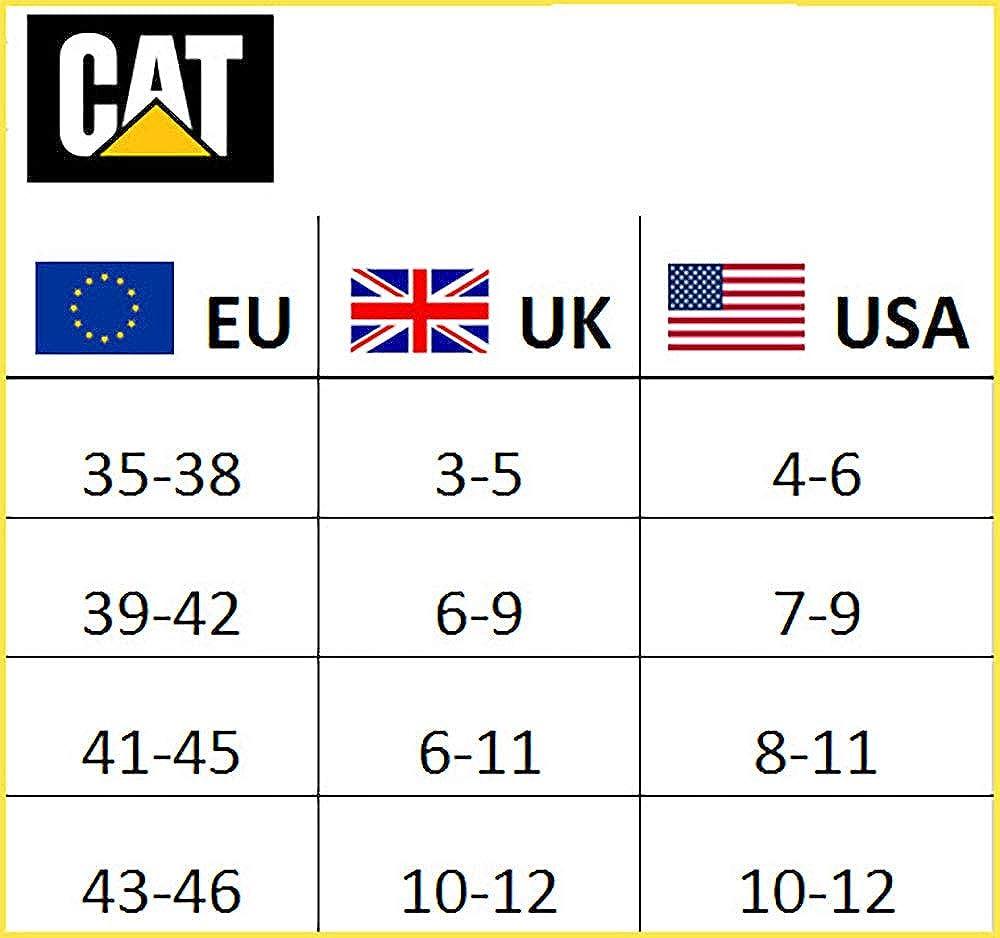 ESPONJA DE ALGODON 3|6|9|12|24 PARES CAT CATERPILLAR HOMBRE CALCETINES DE TRABAJO REFORZADOS