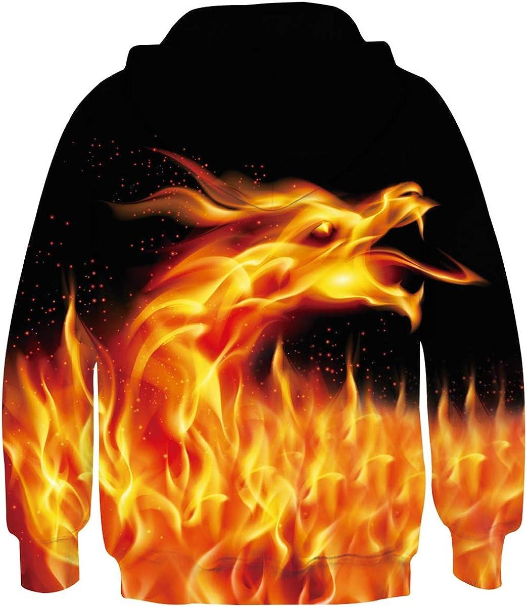 Rave on Friday Kids Hoodie 3D Printed Pullover Sweatshirts Long Sleeve Hooded Jumpers 4-15Y