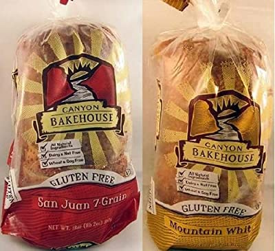 Canyon Bakehouse Variety Pack Gluten Free Mountain White Bread and San Juan 7-grain Bread 2packs Each