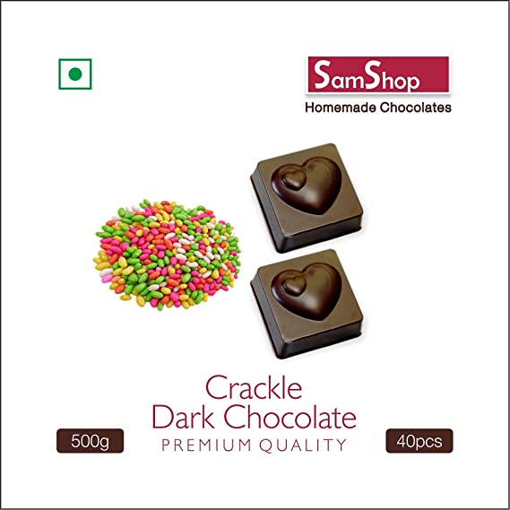 Samshop - Homemade Dark Chocolate Crackle 40 pcs 500 gms: Amazon in