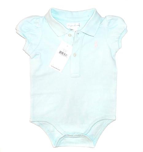 Ralph Lauren bebé niñas algodón Interlock Polo Body, azul azul ...